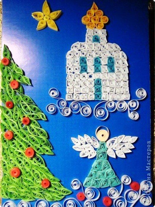 Рождественская открытка поделка