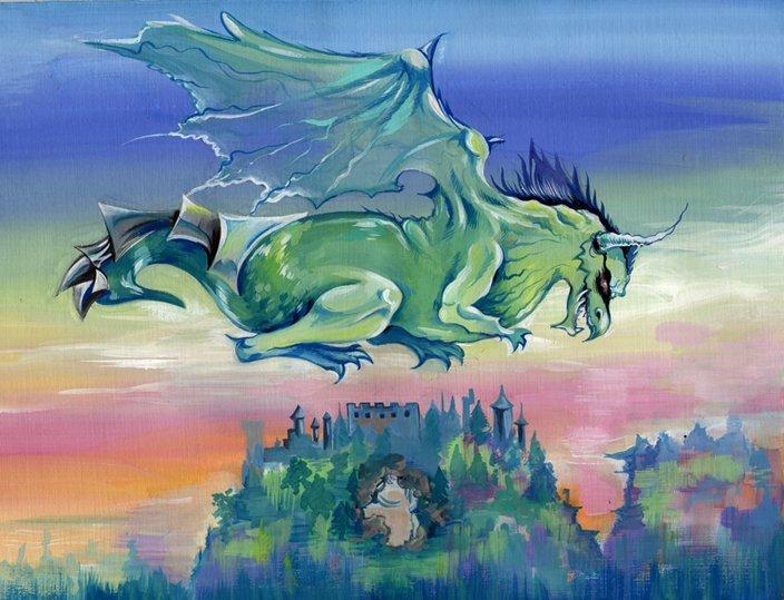 Картинки драконов красками
