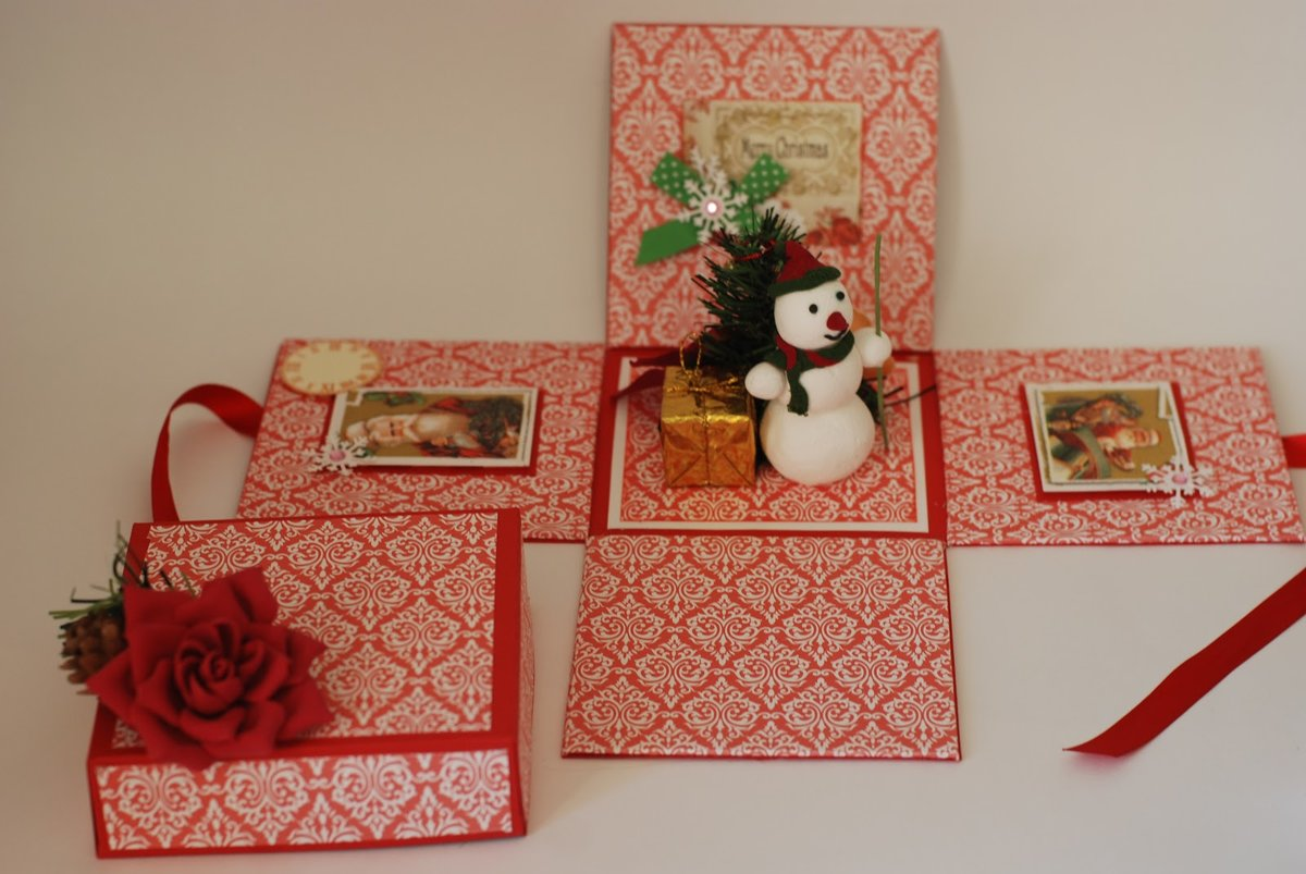 Новогодние коробки для открыток