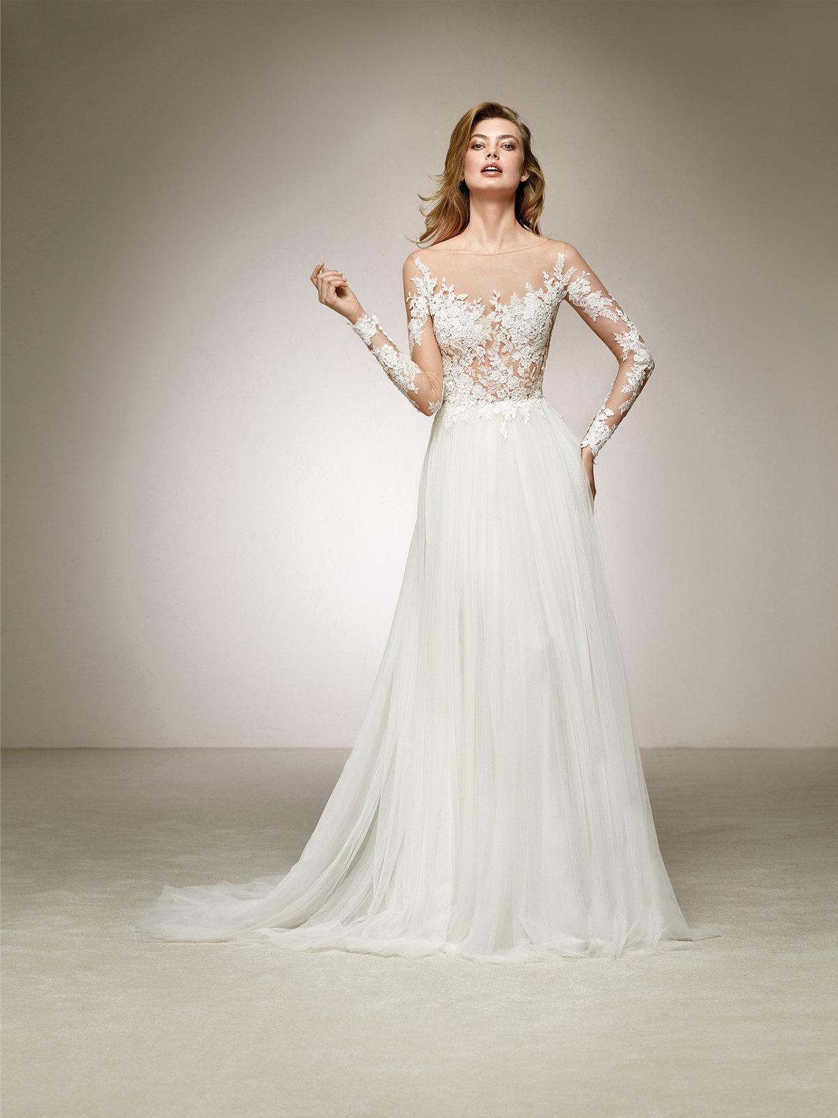 ffaad45beeeef32 ... Прокат свадебных платьев в Москве. Свадебное платье напрокат Pronovias  Datil в студии Таффета по цене