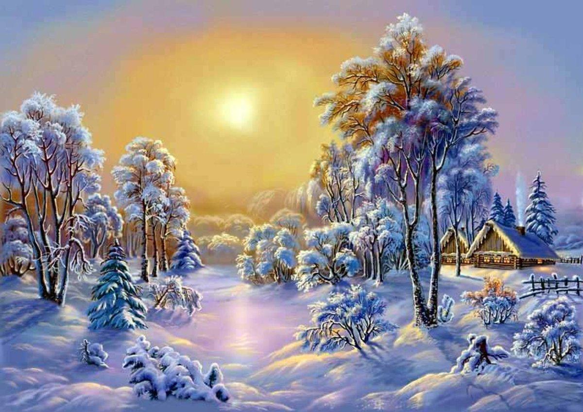 Открытки по теме зима, счастья картинки