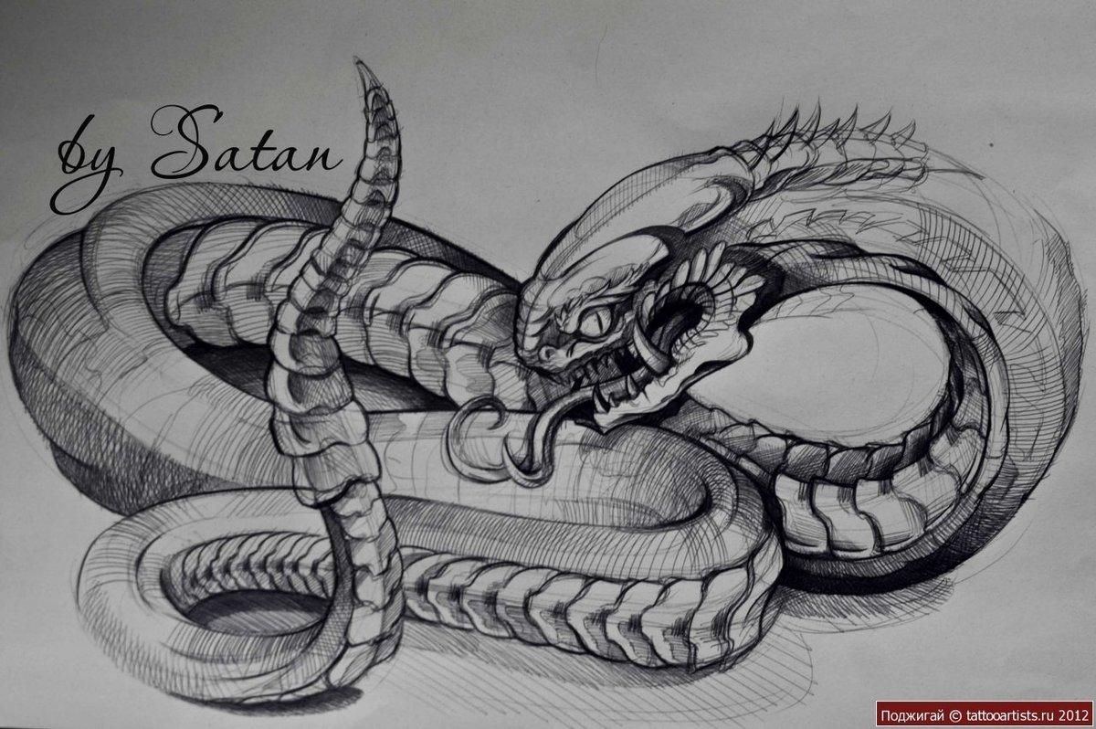 Крутые рисунки змея, картинки