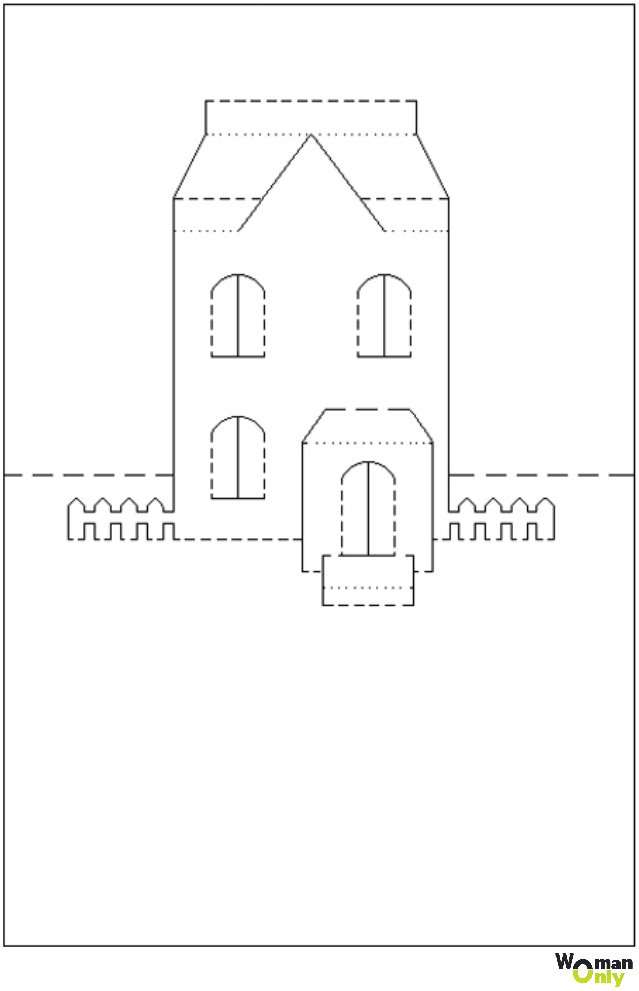 3д открытка чертеж