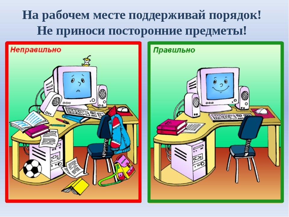 Картинки и техника безопасности компьютера