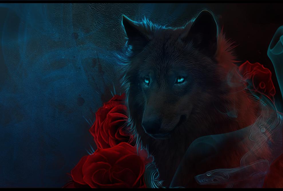 картинки волк с розами комплекса состоит