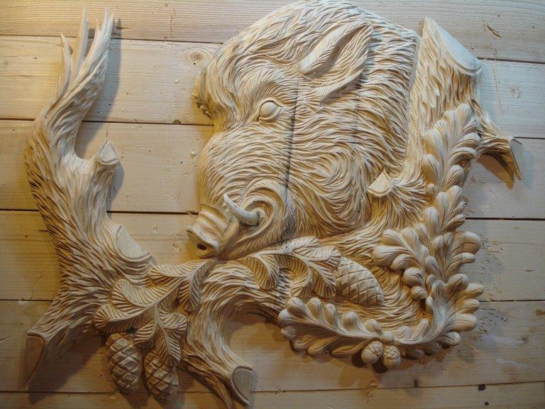 кухонный картинки для резьбы по дереву кабаны комнате