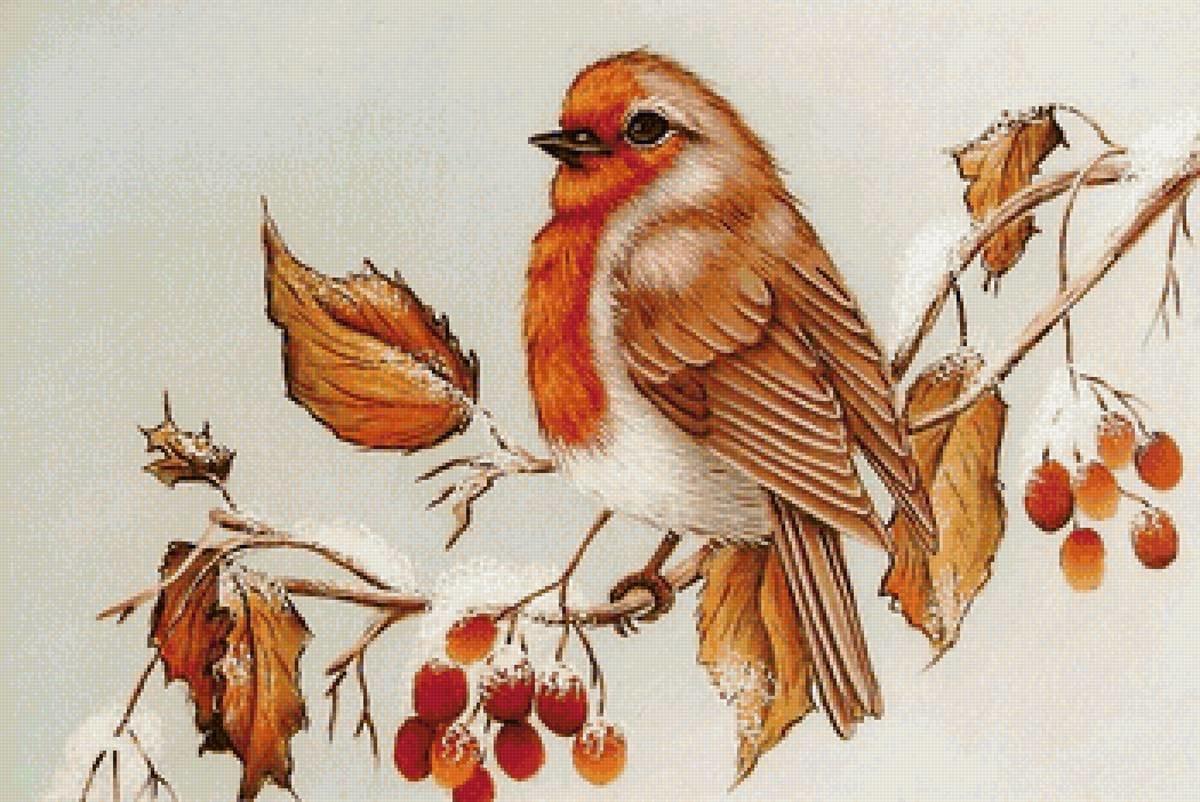Картинка осени птицы для детей