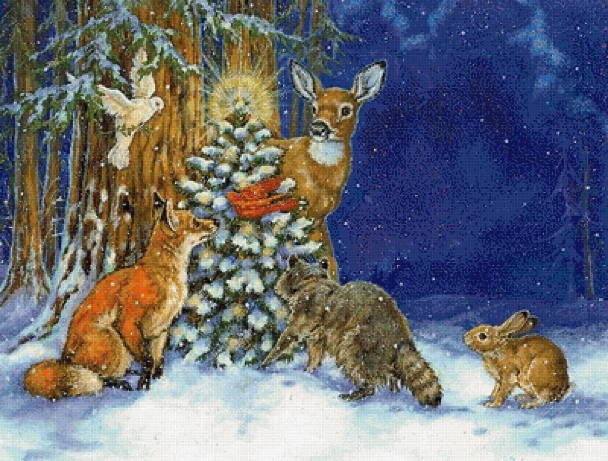 Газпромбанк открытки, открытки с зимой и зверями