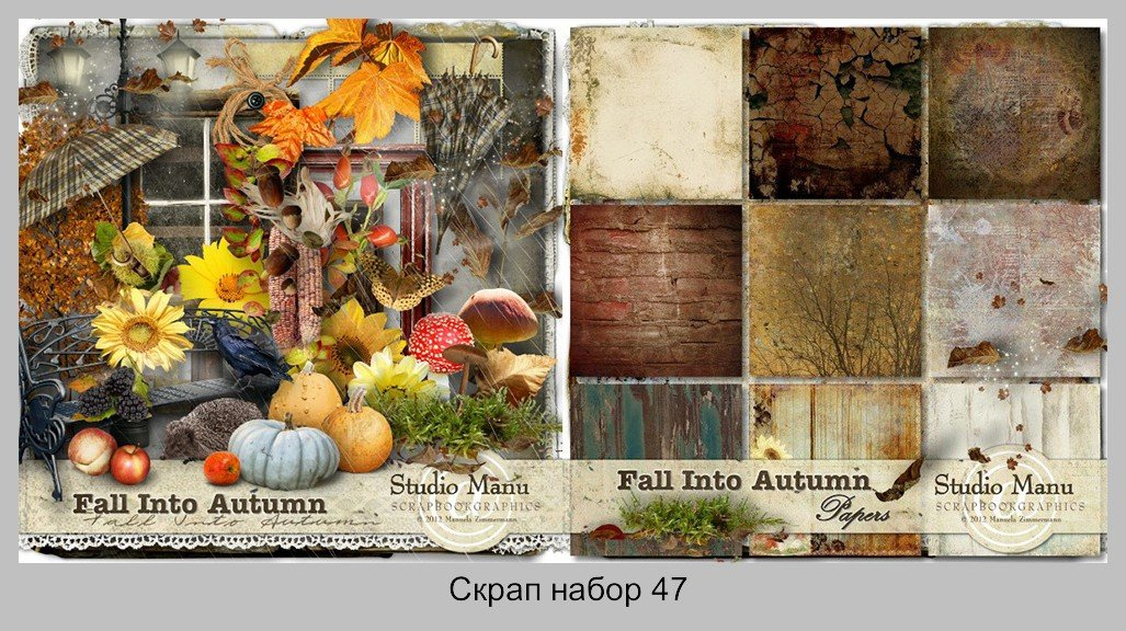 Скрап набор: Fall into autumn
