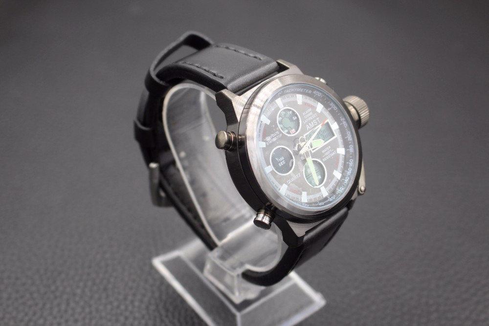 Армейские наручные часы amst из каталога имеют дополнительные декоративные циферблаты, укомплектованы коробкой для хранения и гарантией магазина 3 месяца.