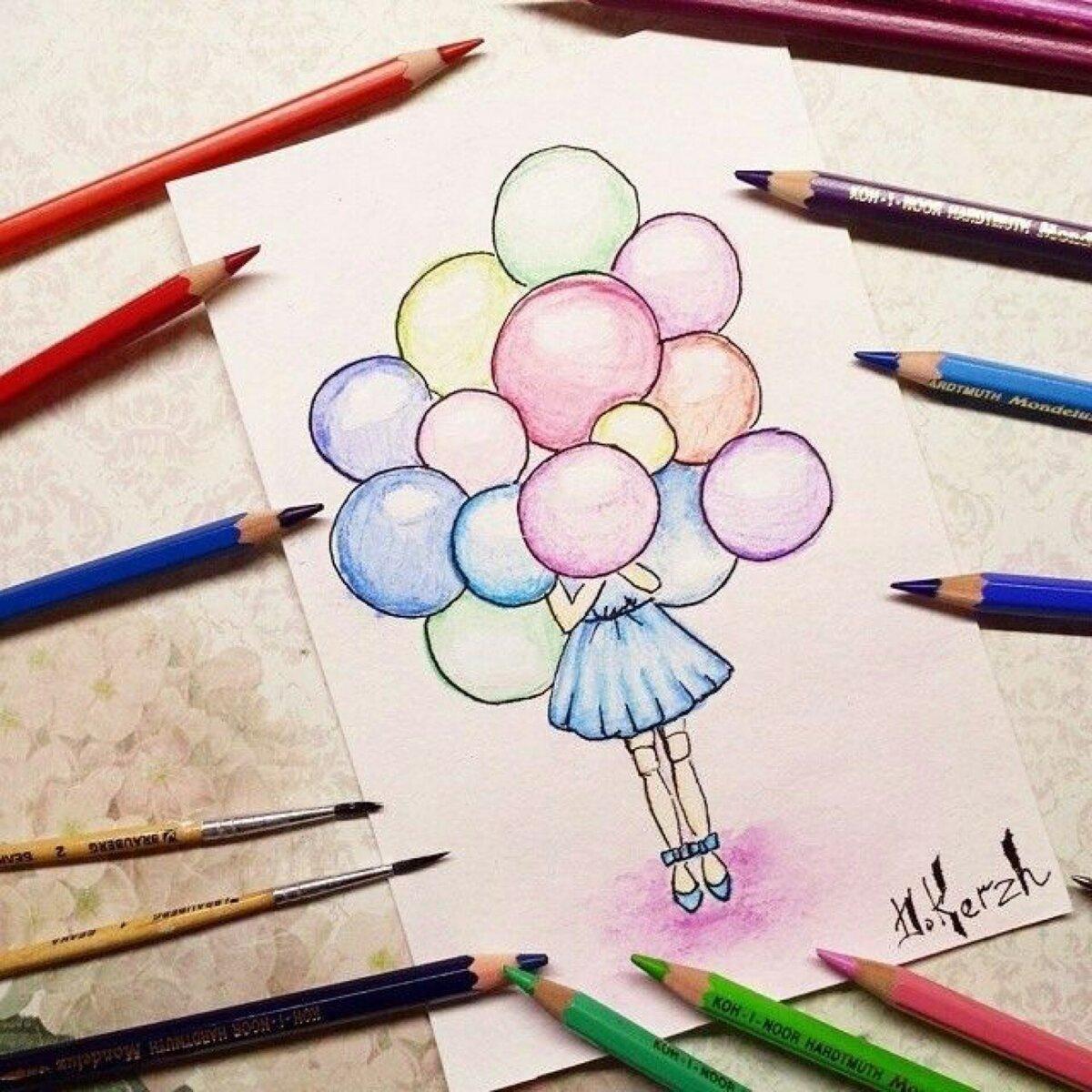 Рисовать цветными карандашами красивые рисунки легкие