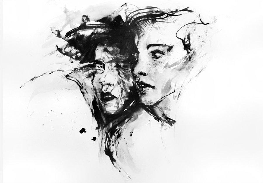 Искусство картинки черно белые