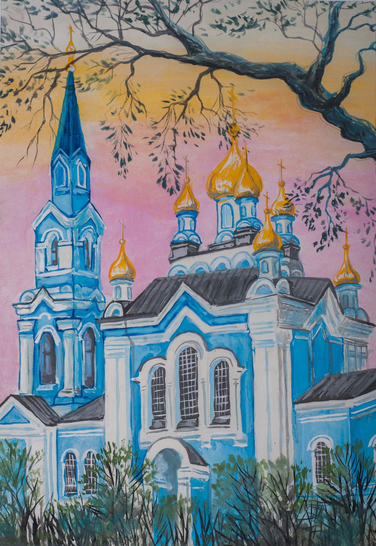 Картинки храмов для срисовки, поздравлениями