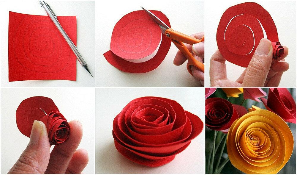 Открытка с розами своими руками поэтапно