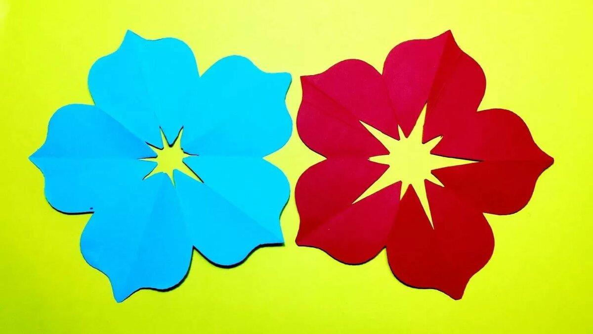 Красивые цветы из цветной бумаги шаблоны