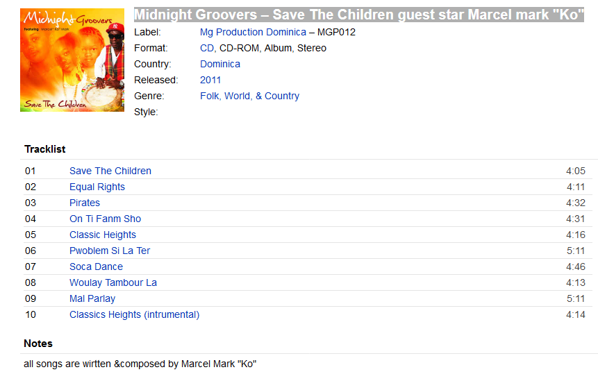 """Midnight Groovers – Save The Children guest star Marcel mark """"Ko""""  S1200"""