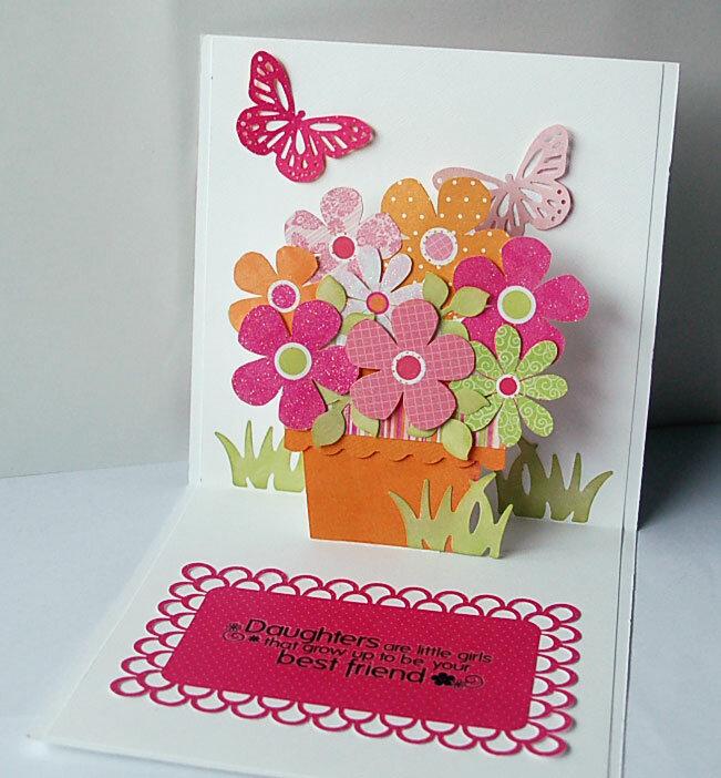 Открытки своими руками раскладушка цветы, открытка марта