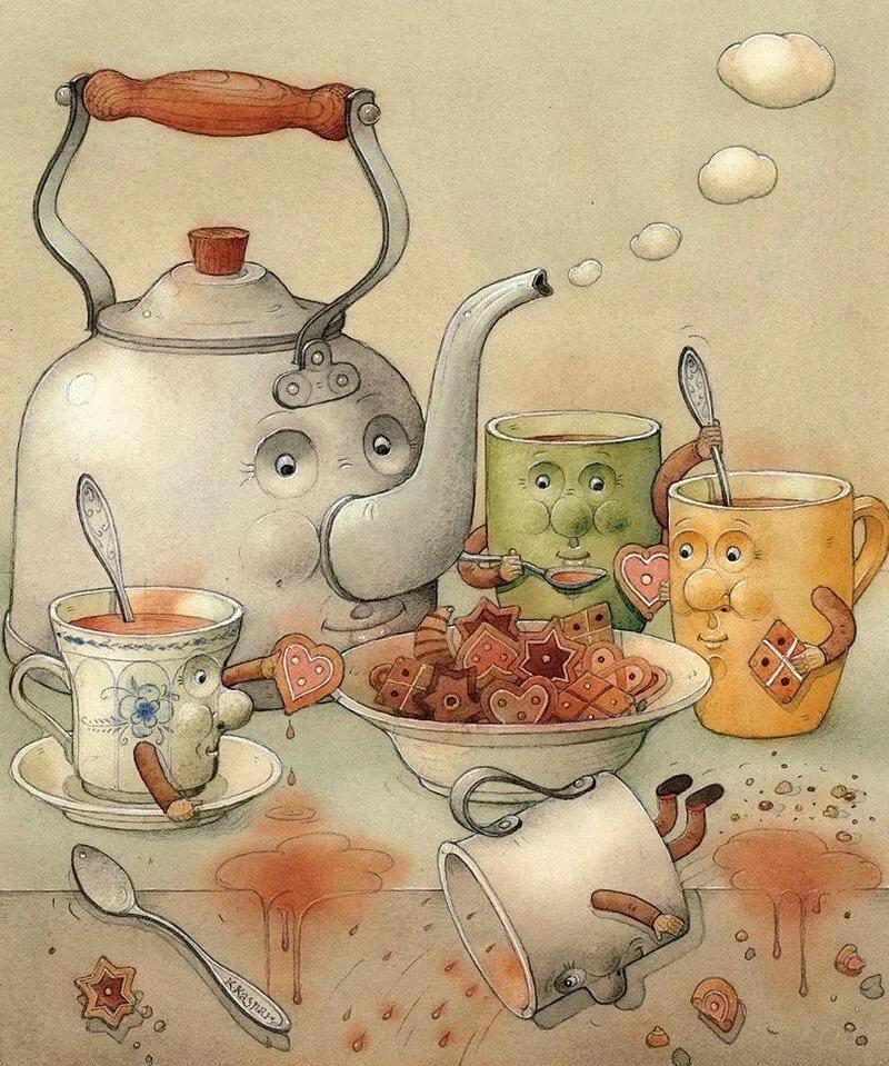 Смешные картинки о посуде, днем