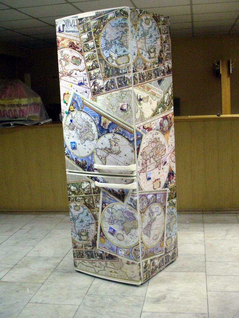 Декупаж холодильника своими руками фото фото 213