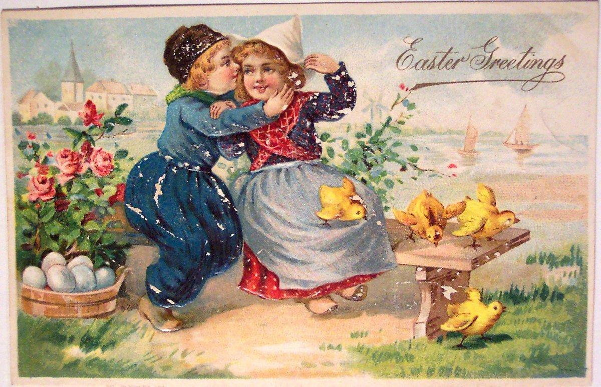 Пасхальные открытки ретро