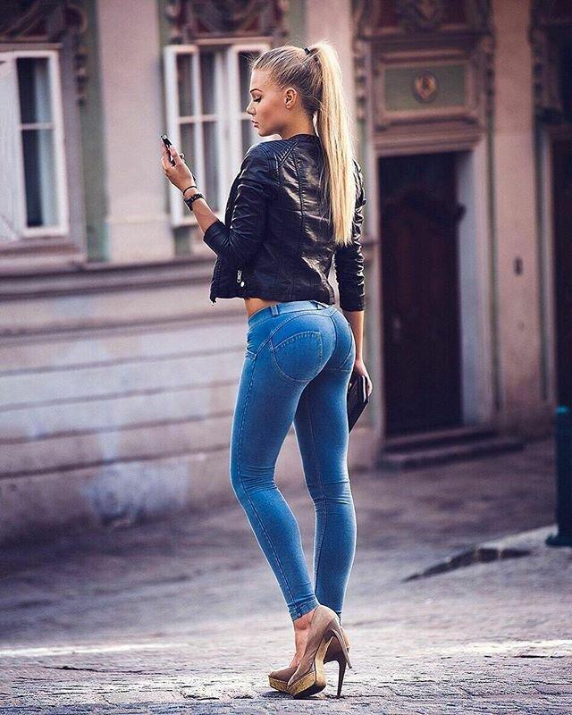 Blue jean girl pics #1