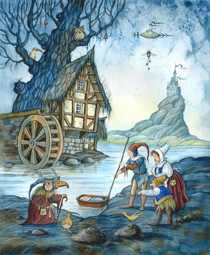 внешней картинки к немецким сказкам старые или