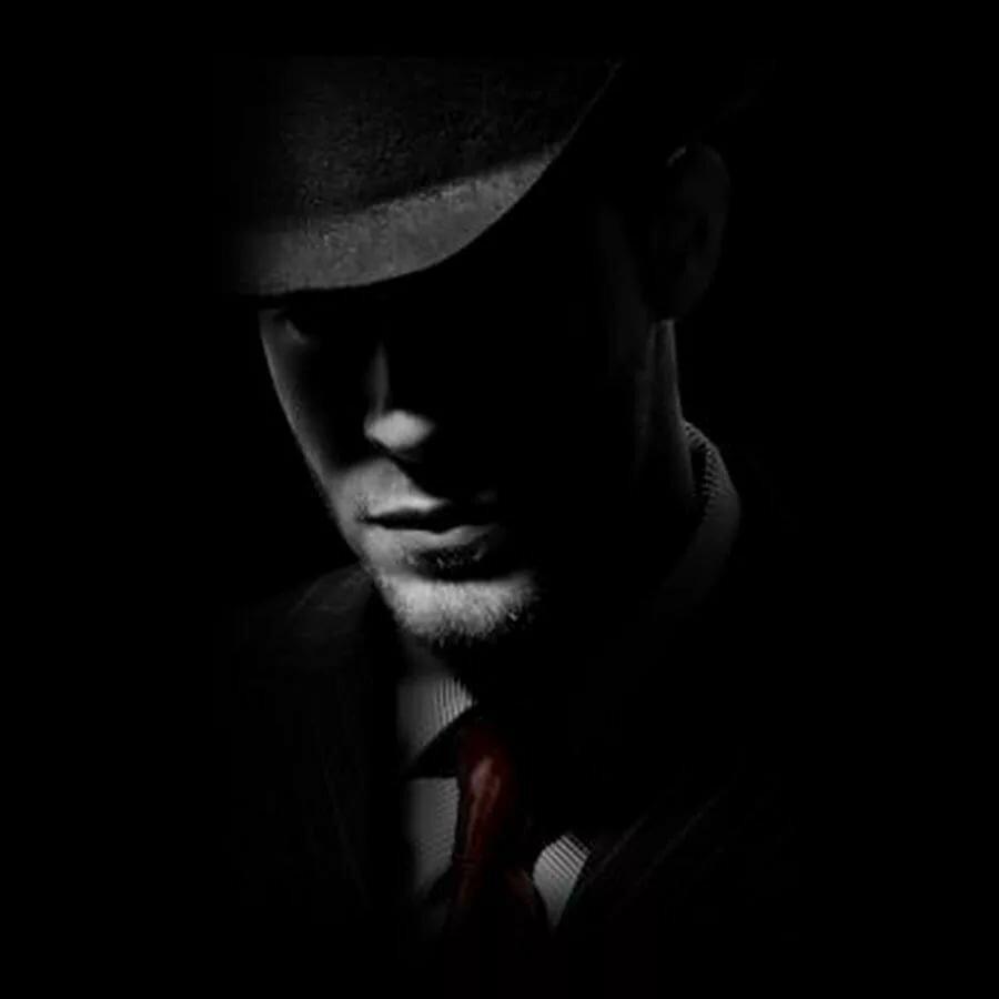 Постер мужчина в шляпе