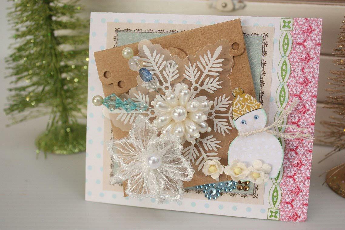 Сделать открытку к новому году