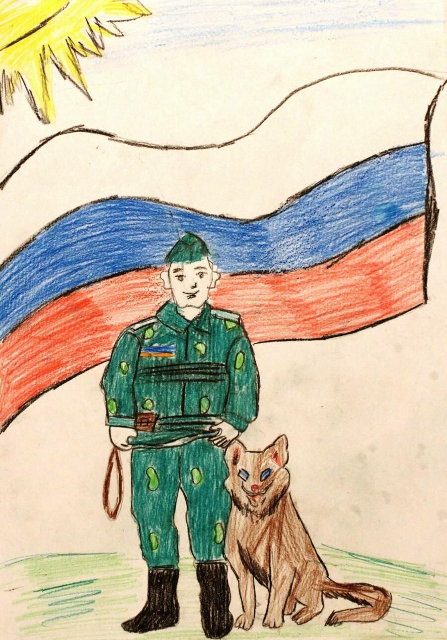 открытка для солдата рисунок мастера