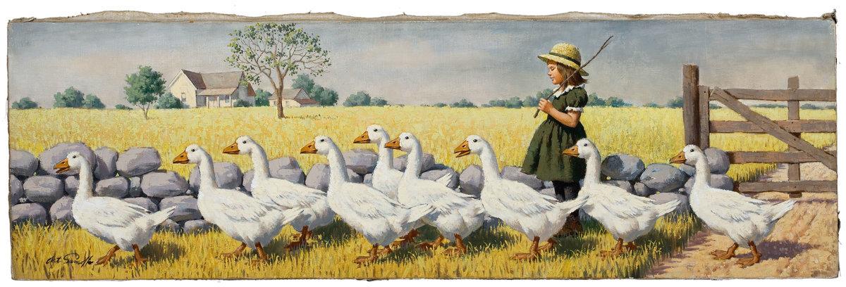 Картинка с гусем для детей