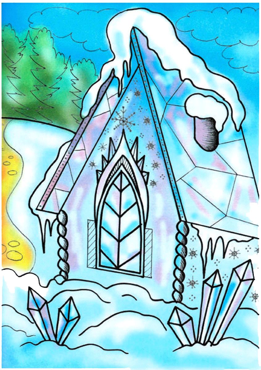 Картинки ледяная избушка лисы
