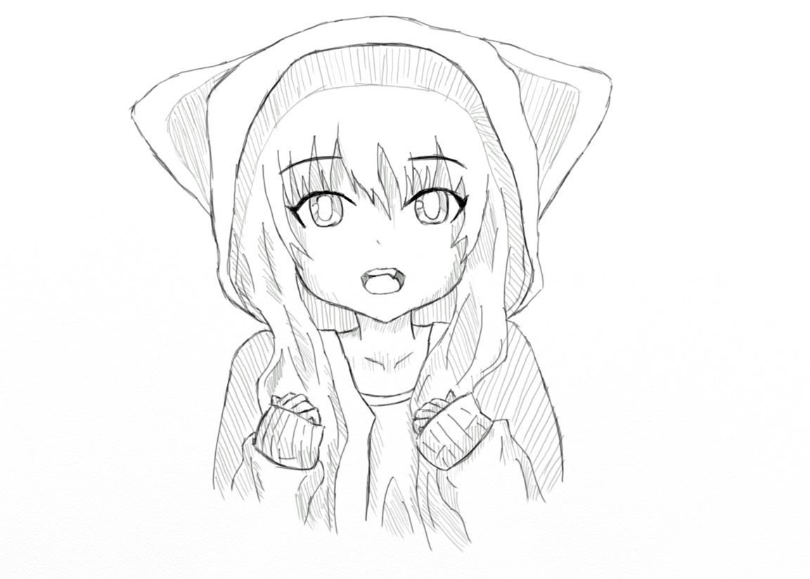 Прикольные нарисованные картинки аниме
