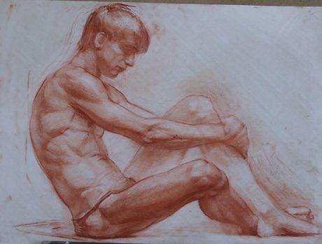 да, каких рисуют голого мужчину с натуры видео она опускалась начал