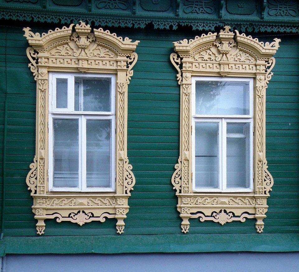 Декоративные наличники на окна фото