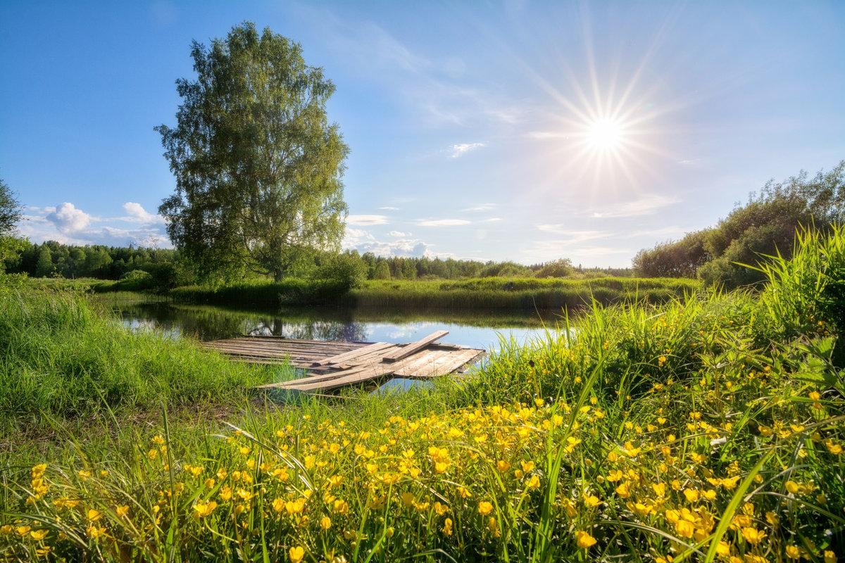 Днем, картинки солнечной погоды летом