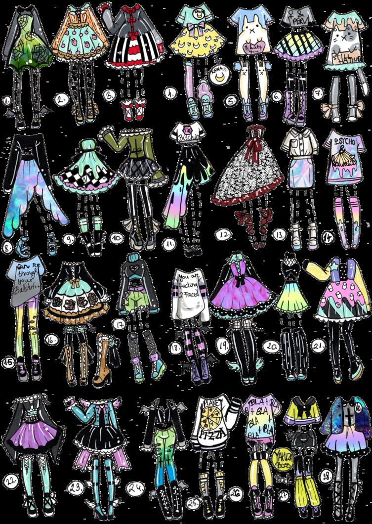 Картинки одежды срисовка