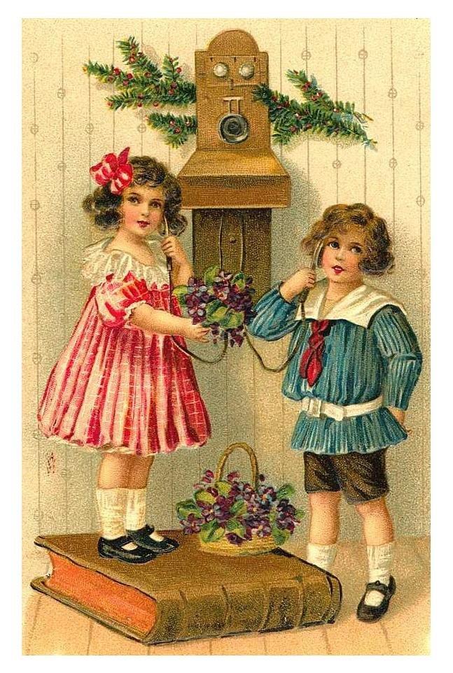 Открытки ретро новый год и рождество, открытка для