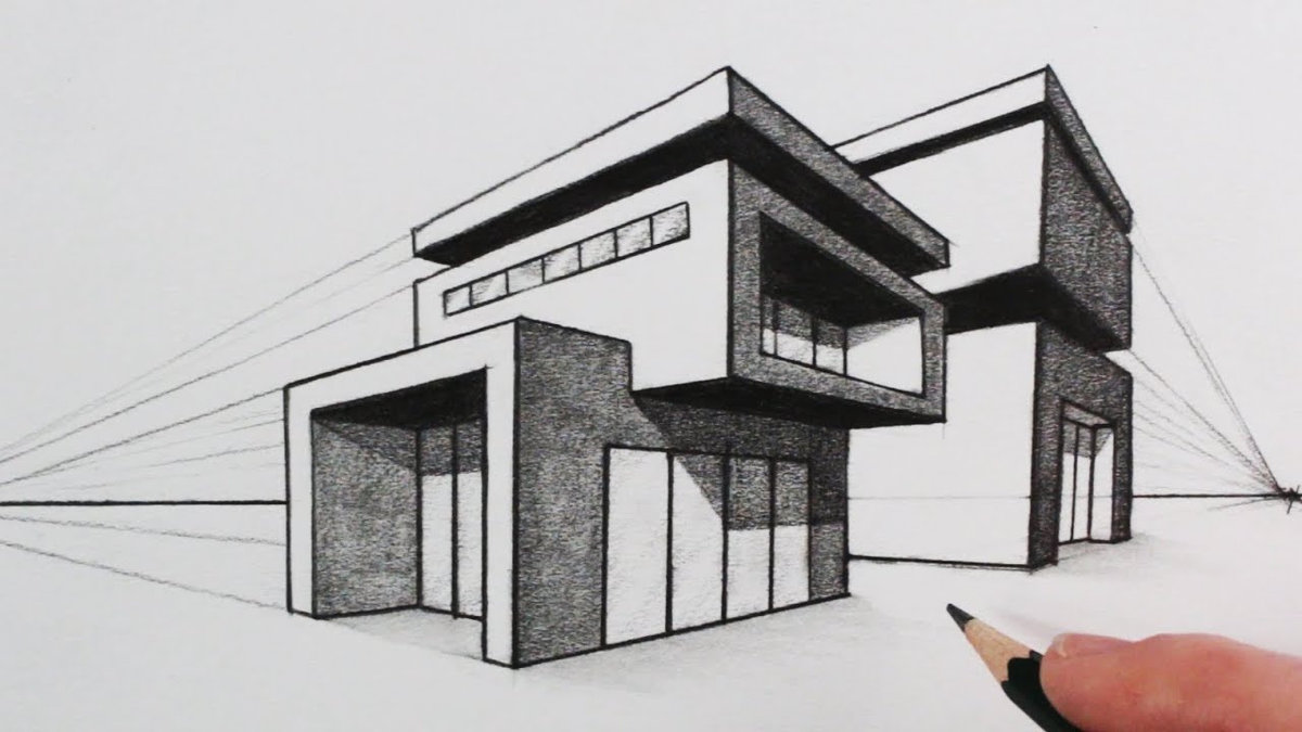 89 2 point perspective drawing modern house modern house 2 point perspective easy drawing
