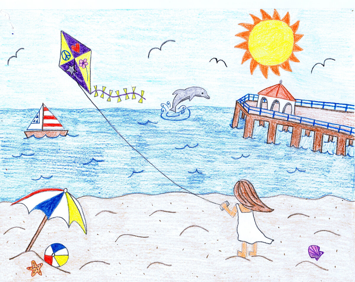 Рисунок лето 6 класс