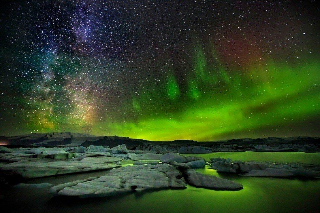 Красивая, картинки сияние в небе