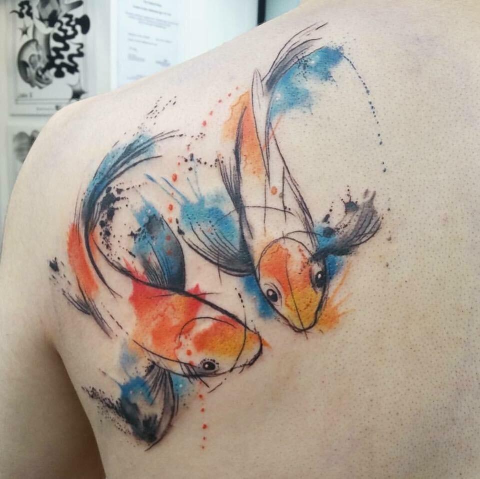Pissed fish tattoos — photo 2