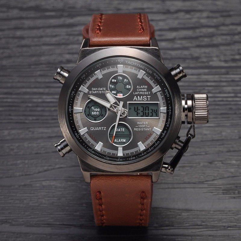 Часы amst имеют комбинированное отображение времени: может цена немного завышена, но сервис радует, быстрая доставка и оператор всегда на связи отвечает на вопросы.