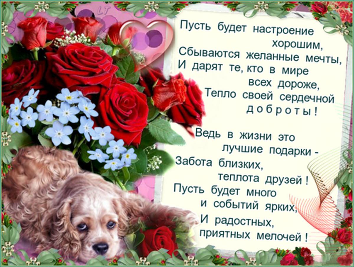 Стихи пожелания хорошего дня на открытках