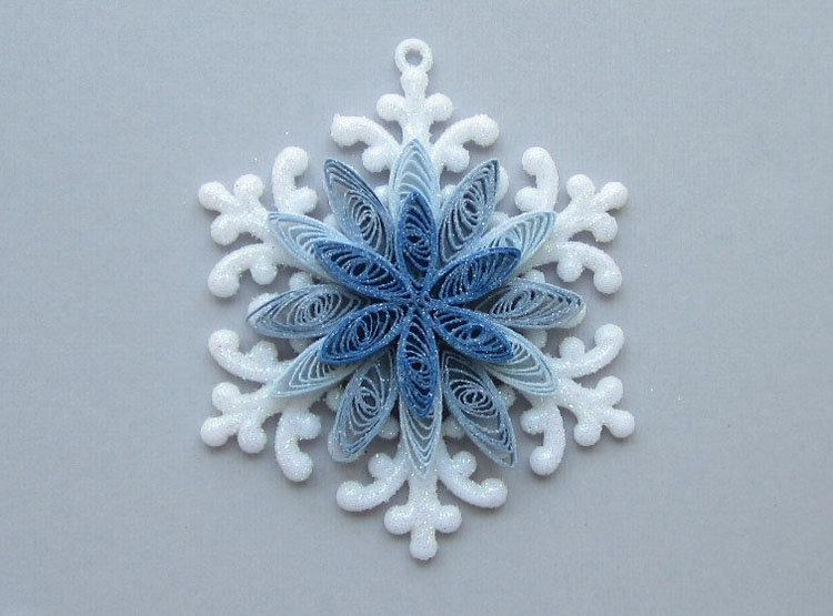 снежинки в стиле квиллинг фото помощью