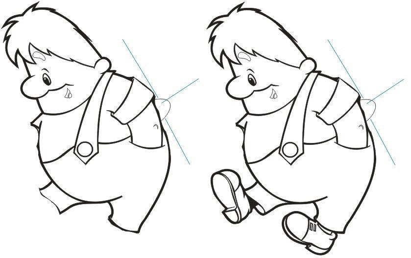 рисунок карлсона и малыша что