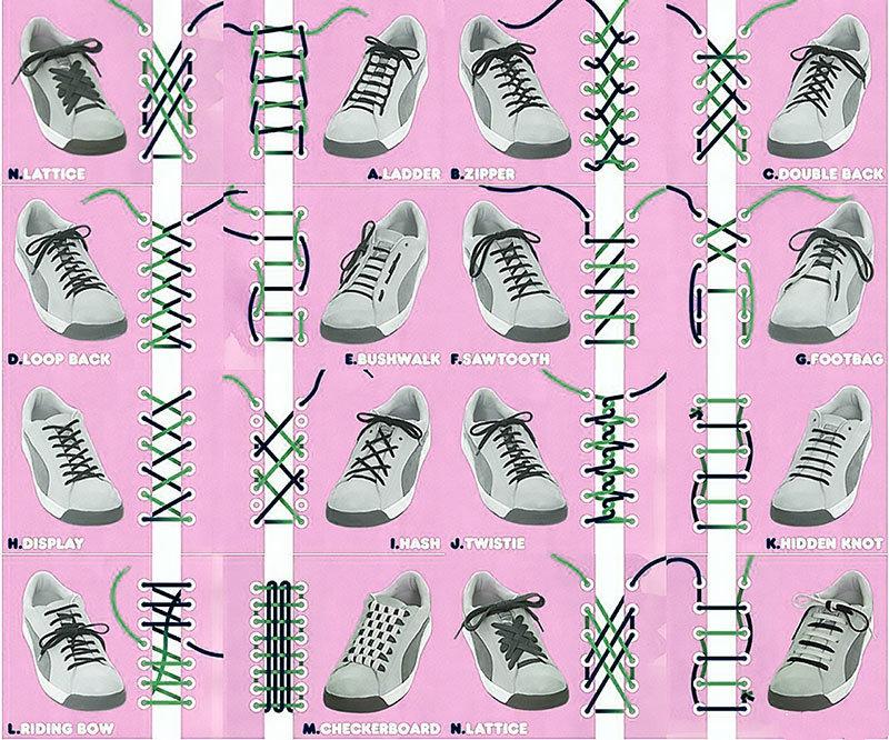 Красиво завязать шнурки в картинках написать анг