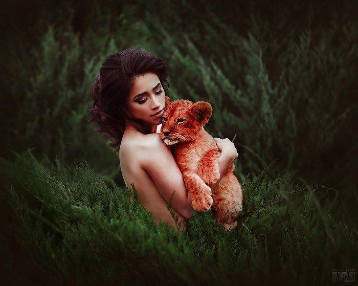 первые фотосессия с львенком москва вместе