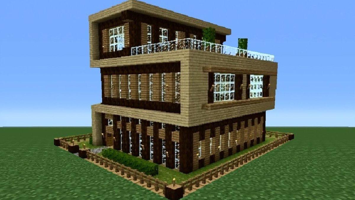 смотреть картинки майнкрафт простые дома площадок участков предприятий