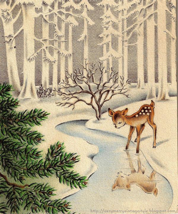 Старинные открытки природы