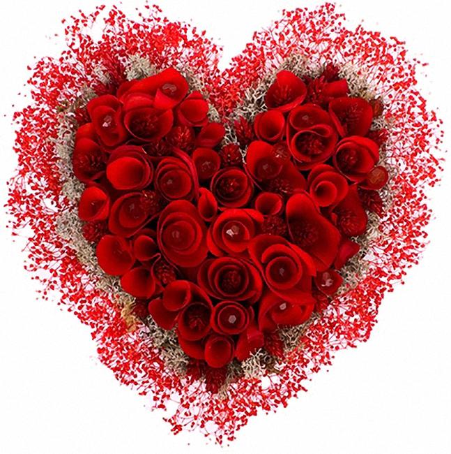 Картинки сердце из цветов анимация